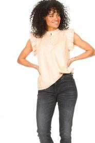 Sofie Schnoor |  Lurex top with ruffles Gritt | pink  | Picture 4