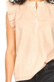 Sofie Schnoor |  Lurex top with ruffles Gritt | pink  | Picture 7