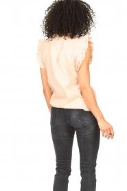 Sofie Schnoor |  Lurex top with ruffles Gritt | pink  | Picture 6