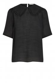 Sofie Schnoor |  Basic blouse Verrona | black  | Picture 1