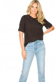 Sofie Schnoor |  Basic blouse Verrona | black  | Picture 4