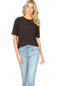 Sofie Schnoor |  Basic blouse Verrona | black  | Picture 2