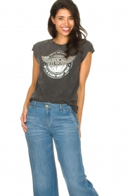 Sofie Schnoor |  Rock and Roll T-shirt Nikoline | black  | Picture 5