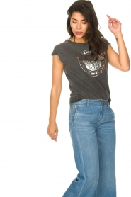 Sofie Schnoor |  Rock and Roll T-shirt Nikoline | black  | Picture 4