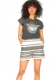 Sofie Schnoor |  Rock and Roll T-shirt Nikoline | black  | Picture 2