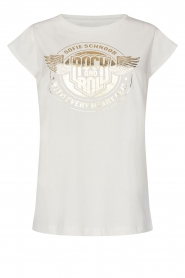 Sofie Schnoor |  Rock and Roll T-shirt Nikoline | white
