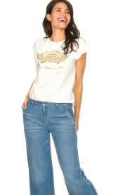 Sofie Schnoor |  Rock and Roll T-shirt Nikoline | white  | Picture 4