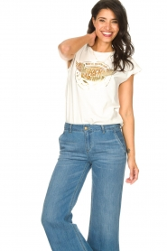 Sofie Schnoor |  Rock and Roll T-shirt Nikoline | white  | Picture 2