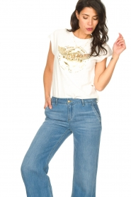 Sofie Schnoor |  Rock and Roll T-shirt Nikoline | white  | Picture 5