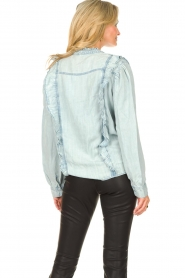 Sofie Schnoor |  Blouse with ruffles Silke | blue  | Picture 7