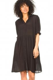 Sofie Schnoor | Transparante jurk Valeria | zwart   | Afbeelding 2