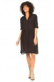 Sofie Schnoor | Transparante jurk Valeria | zwart   | Afbeelding 3