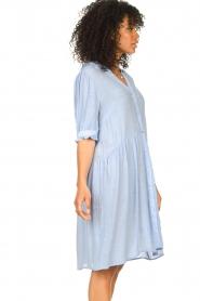 Sofie Schnoor |  See-through dress Valeria | blue  | Picture 7