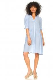 Sofie Schnoor |  See-through dress Valeria | blue  | Picture 3