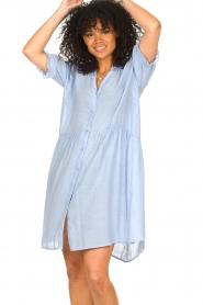 Sofie Schnoor |  See-through dress Valeria | blue  | Picture 5