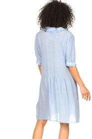 Sofie Schnoor |  See-through dress Valeria | blue  | Picture 8