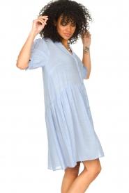 Sofie Schnoor |  See-through dress Valeria | blue  | Picture 4
