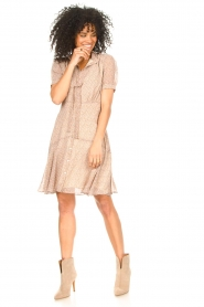 Sofie Schnoor |  Dress with print Cathy | beige  | Picture 3