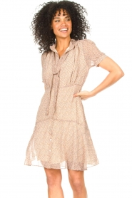Sofie Schnoor |  Dress with print Cathy | beige  | Picture 4
