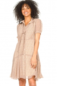 Sofie Schnoor |  Dress with print Cathy | beige  | Picture 2