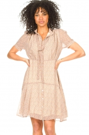 Sofie Schnoor |  Dress with print Cathy | beige  | Picture 5