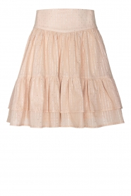 Sofie Schnoor |  Lurex skirt with ruffles Polly | pink  | Picture 1