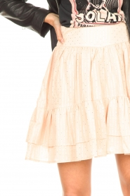 Sofie Schnoor |  Lurex skirt with ruffles Polly | pink  | Picture 8