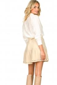 Sofie Schnoor    Skirt with rib pattern Dahlia   beige    Picture 7