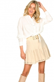 Sofie Schnoor    Skirt with rib pattern Dahlia   beige    Picture 4