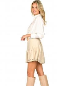 Sofie Schnoor    Skirt with rib pattern Dahlia   beige    Picture 6
