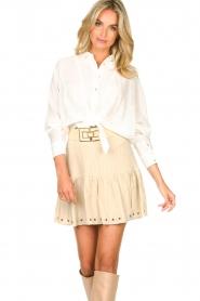 Sofie Schnoor    Skirt with rib pattern Dahlia   beige    Picture 5