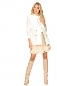 Sofie Schnoor    Skirt with rib pattern Dahlia   beige    Picture 3