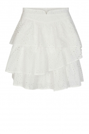 Sofie Schnoor |  Embroidery skirt Shaela | white  | Picture 1