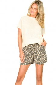 Sofie Schnoor |  Shorts with panther print Chloe | animal print  | Picture 2