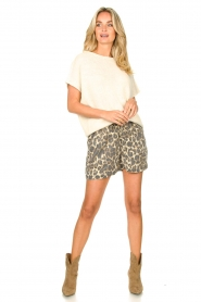 Sofie Schnoor |  Shorts with panther print Chloe | animal print  | Picture 3