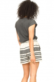 Sofie Schnoor |  Cotton shorts with aztec print Louie | black   | Picture 6