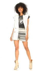 Sofie Schnoor |  Cotton shorts with aztec print Louie | black   | Picture 3