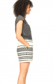 Sofie Schnoor |  Cotton shorts with aztec print Louie | black   | Picture 5