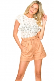 Sofie Schnoor | Paperbag shorts Charly | bruin   | Afbeelding 4