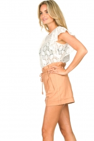Sofie Schnoor | Paperbag shorts Charly | bruin   | Afbeelding 5