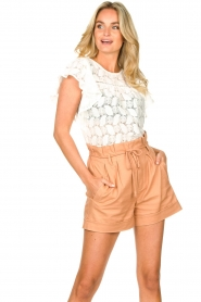 Sofie Schnoor | Paperbag shorts Charly | bruin   | Afbeelding 2