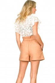 Sofie Schnoor | Paperbag shorts Charly | bruin   | Afbeelding 6