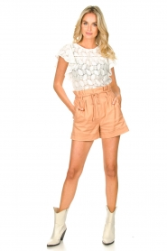 Sofie Schnoor | Paperbag shorts Charly | bruin   | Afbeelding 3