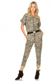 Sofie Schnoor |  Jumpsuit with panther print Lana | animal print  | Picture 2