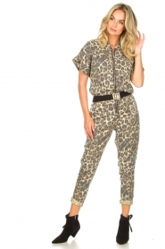 Sofie Schnoor |  Jumpsuit with panther print Lana | animal print  | Picture 5