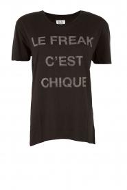 Zoe Karssen | T-shirt Le Freak | zwart  | Afbeelding 1