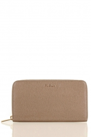 Leather wallet Linda | taupe