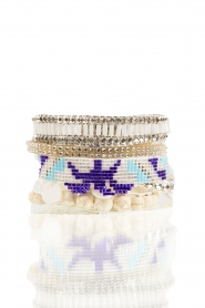 Armband Honolulu | wit-blauw