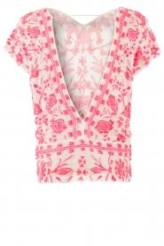 Antik Batik | Paillettentop Timeo | roze  | Afbeelding 6