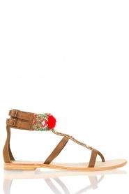 Leather sandals Thos | brown